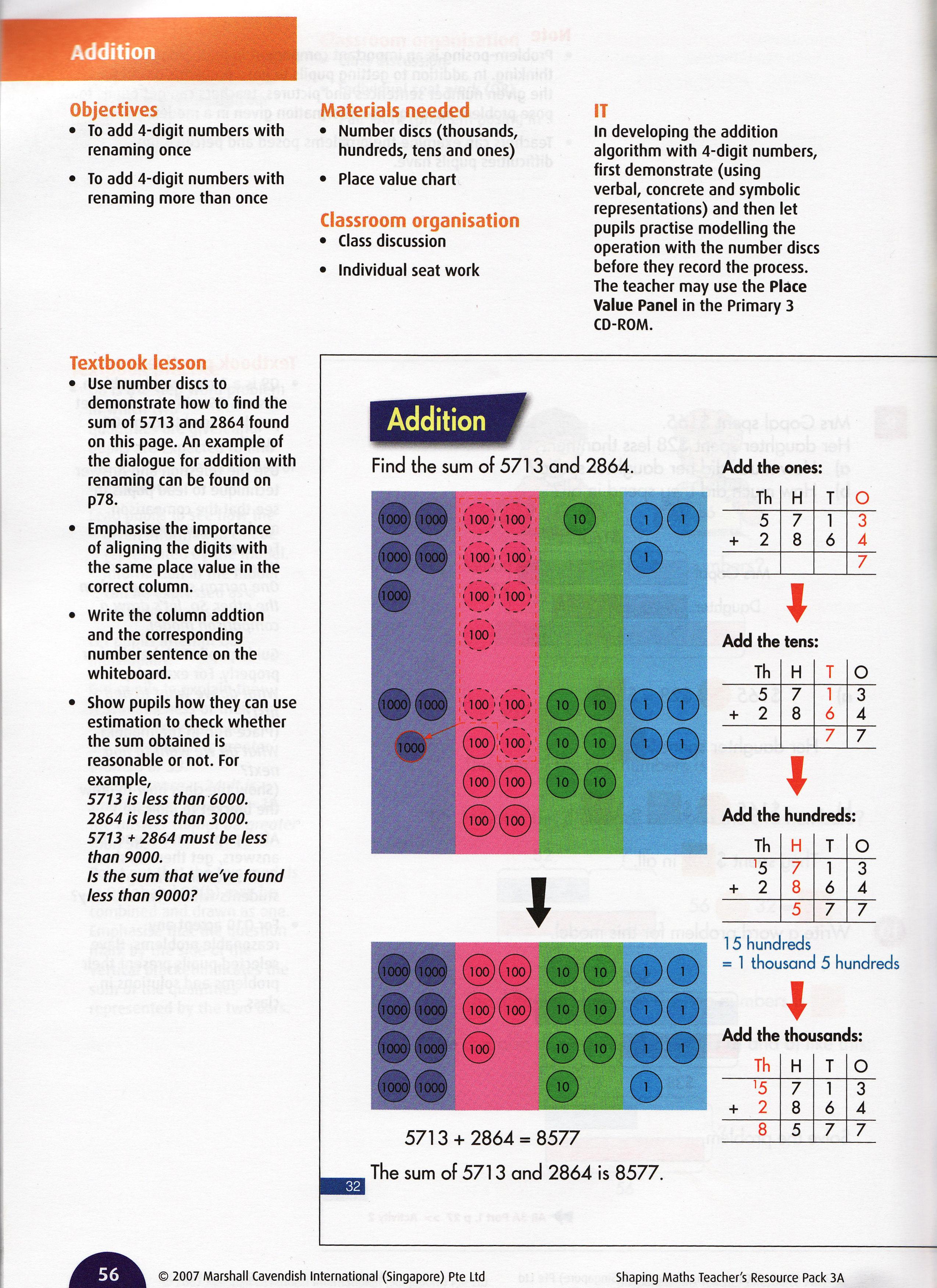 Materials singaporemathsource part 3 add without place value charts shapp56 shaping mathsaddition p 56 nvjuhfo Choice Image